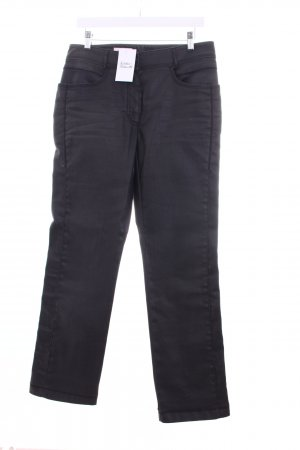 Laurèl Straight-Leg Jeans anthrazit Glanz-Optik