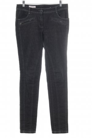 Laurèl Straight-Leg Jeans schwarz-anthrazit Casual-Look