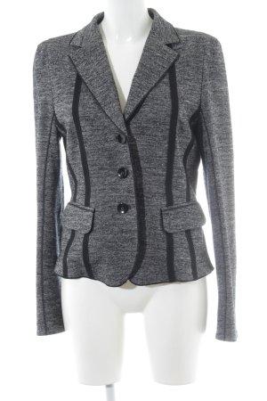 Laurèl Gebreide blazer zwart-wolwit gestippeld zakelijke stijl