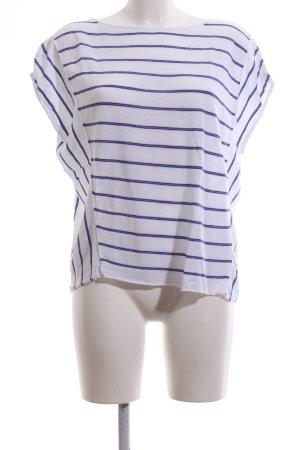 Laurèl Strickshirt weiß-blau Streifenmuster Casual-Look