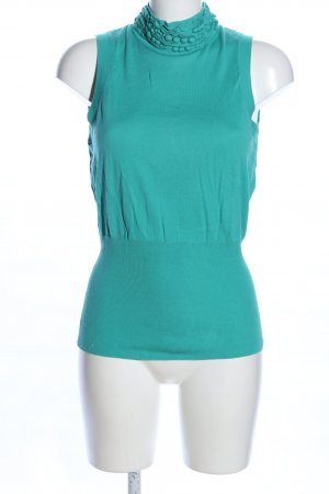 Laurèl Haut tricotés turquoise style décontracté