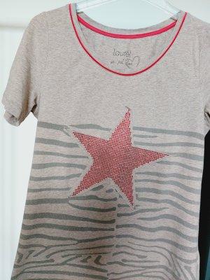 Laurèl T-shirt rosso mattone-beige