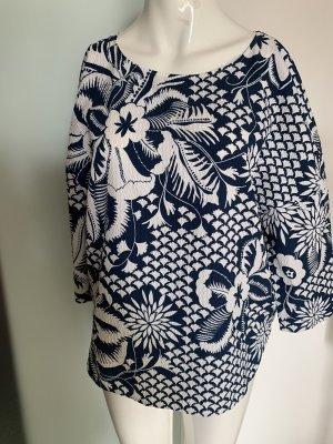 Laurèl Blusa a tunica bianco-blu acciaio