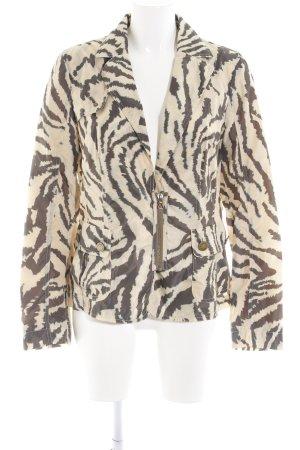 Laurèl Übergangsjacke braun-wollweiß Animalmuster Street-Fashion-Look