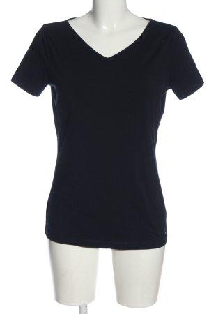 Laurèl V-Ausschnitt-Shirt schwarz Casual-Look