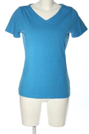 Laurèl V-Ausschnitt-Shirt blau Casual-Look