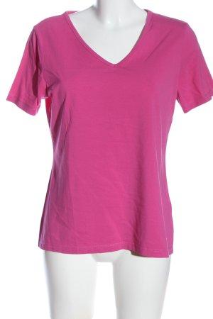 Laurèl V-Ausschnitt-Shirt pink Casual-Look