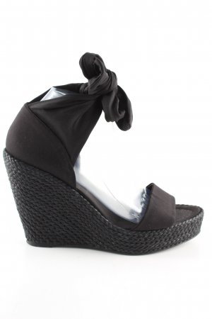Laurèl Wedges Sandaletten schwarz Casual-Look