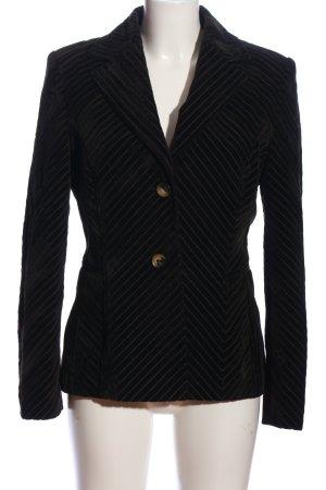 Laurèl Woll-Blazer schwarz-hellgrau Streifenmuster Elegant