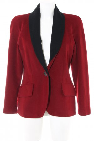 Laurèl Veste en laine rouge-noir style d'affaires
