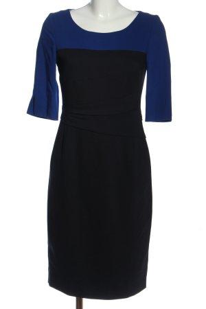 Laurèl Wollkleid schwarz-blau Elegant