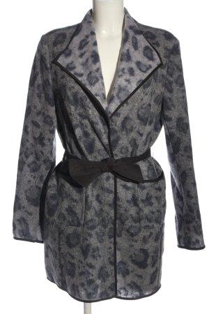 Laurèl Wool Coat light grey allover print casual look