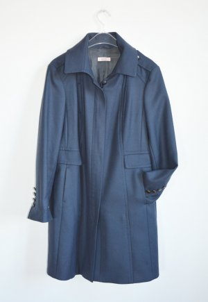 Laurel Wollmantel Mantel Blaugrau Military Gr. 40 Topzustand Wolle