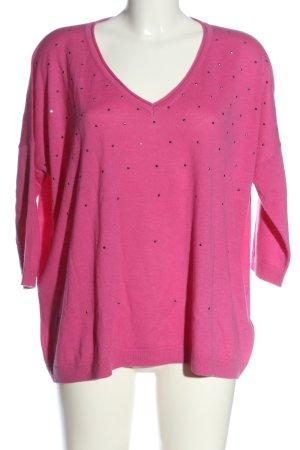 Laurèl Maglione di lana rosa stile casual