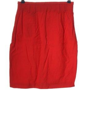Laurèl Falda de lana rojo look casual