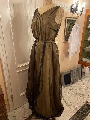 Laurèl Evening Dress camel-black silk