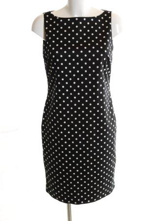 Lauren by Ralph Lauren Bleistiftkleid schwarz-weiß Punktemuster Business-Look