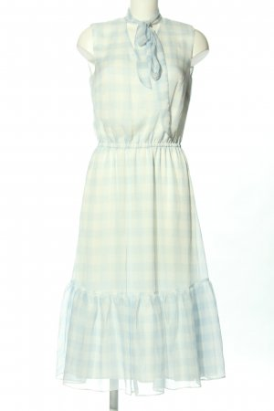 Lauren by Ralph Lauren Chiffon Dress white-turquoise allover print casual look