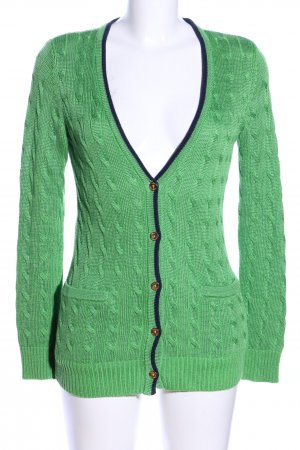 Lauren by Ralph Lauren Crochet Cardigan green cable stitch casual look