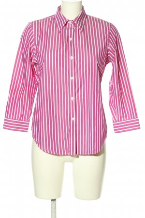 Lauren by Ralph Lauren Hemd-Bluse pink-weiß Streifenmuster Casual-Look