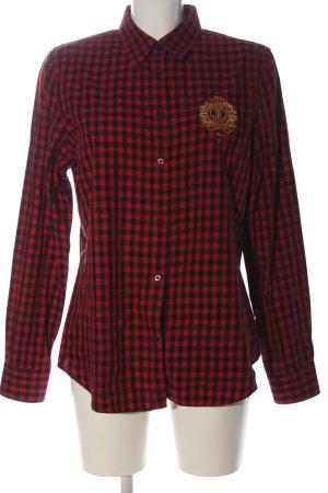 Lauren by Ralph Lauren Holzfällerhemd schwarz-rot Karomuster Casual-Look
