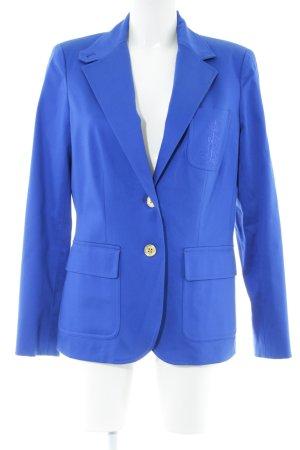Lauren by Ralph Lauren Kurz-Blazer blau Schriftzug gestickt Business-Look