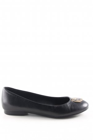 Lauren by Ralph Lauren Patent Leather Ballerinas black business style
