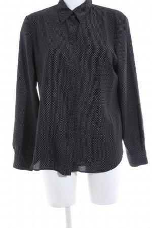 Lauren by Ralph Lauren Langarm-Bluse schwarz-weiß Allover-Druck Business-Look