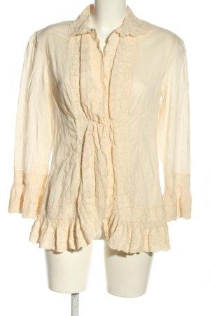 Lauren by Ralph Lauren Langarm-Bluse creme Elegant
