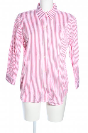 Lauren by Ralph Lauren Langarmhemd weiß-pink Allover-Druck Casual-Look