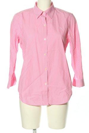 Lauren by Ralph Lauren Langarmhemd pink-weiß Streifenmuster Casual-Look