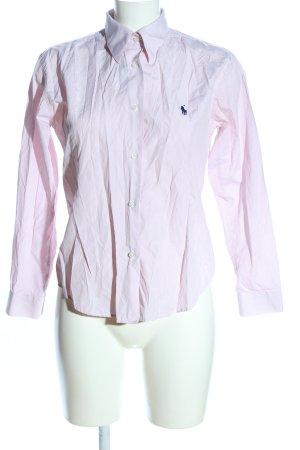 Lauren by Ralph Lauren Langarmhemd pink Schriftzug gestickt Casual-Look