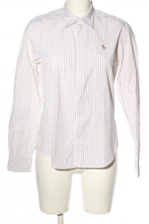 Lauren by Ralph Lauren Camicia a maniche lunghe bianco-color carne stile casual