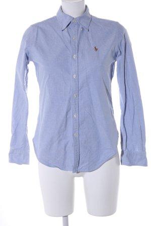 Lauren by Ralph Lauren Langarmhemd blau Motivdruck Business-Look