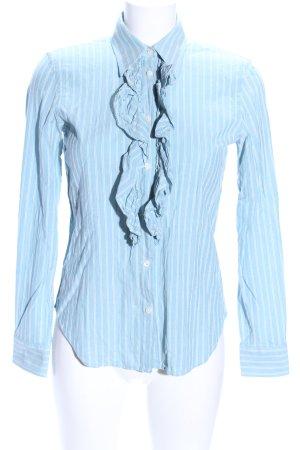 Lauren by Ralph Lauren Langarmhemd blau-weiß Streifenmuster Business-Look