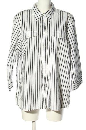 Lauren by Ralph Lauren Langarmhemd weiß-schwarz Streifenmuster Casual-Look