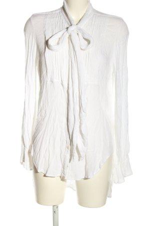Lauren by Ralph Lauren Long Sleeve Shirt white striped pattern elegant