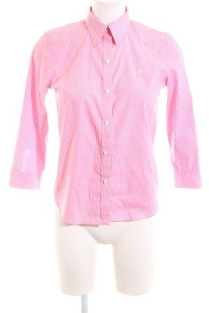 Lauren by Ralph Lauren Langarmhemd pink-weiß Streifenmuster Business-Look