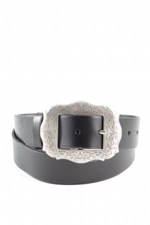 Lauren by Ralph Lauren Cintura di pelle nero stile professionale