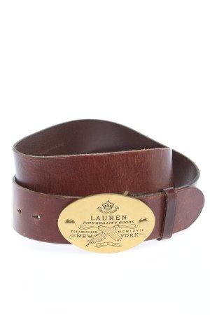 Lauren by Ralph Lauren Cinturón de cuero marrón look casual