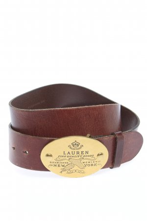 Lauren by Ralph Lauren Cintura di pelle marrone stile casual