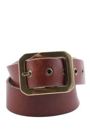 Lauren by Ralph Lauren Cinturón de cuero marrón estilo «business»
