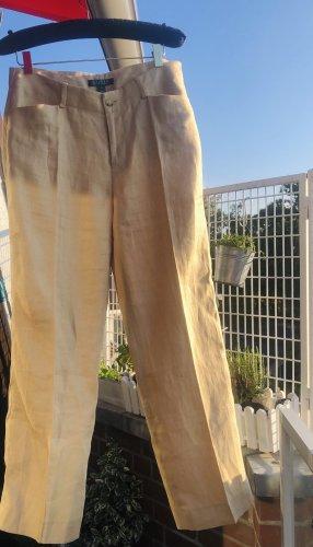 Lauren by Ralph Lauren Leinenhose Damen beige nude hoher Bund