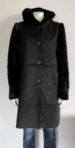Lauren by Ralph Lauren Fake Fur Coat black