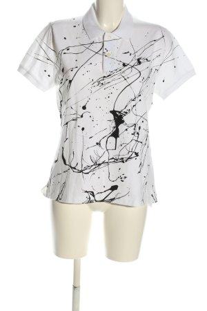 Lauren by Ralph Lauren Polo-Shirt weiß-schwarz Motivdruck Casual-Look