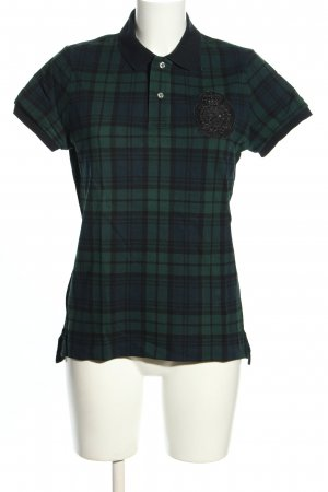 Lauren by Ralph Lauren Polo-Shirt khaki-schwarz Karomuster Casual-Look