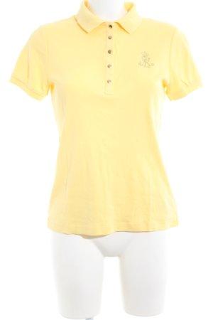 Lauren by Ralph Lauren Polo-Shirt blassgelb Casual-Look
