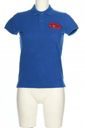 Lauren by Ralph Lauren Polo Shirt blue-red themed print casual look