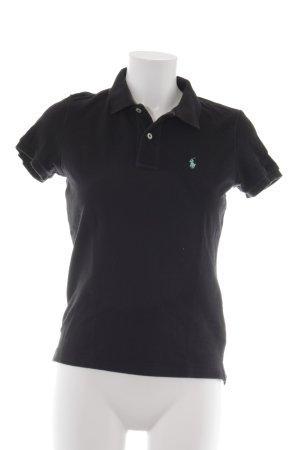 Lauren by Ralph Lauren Polo-Shirt schwarz Casual-Look