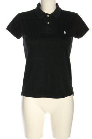 Lauren by Ralph Lauren Polo-Shirt schwarz schlichter Stil